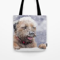 Border Terrier Winter Wi… Tote Bag