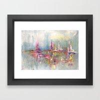 City And Colour Framed Art Print