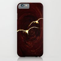 iPhone Cases featuring seagulls at sunset by Lo Coco Agostino