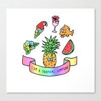 i am a tropical simpson Canvas Print