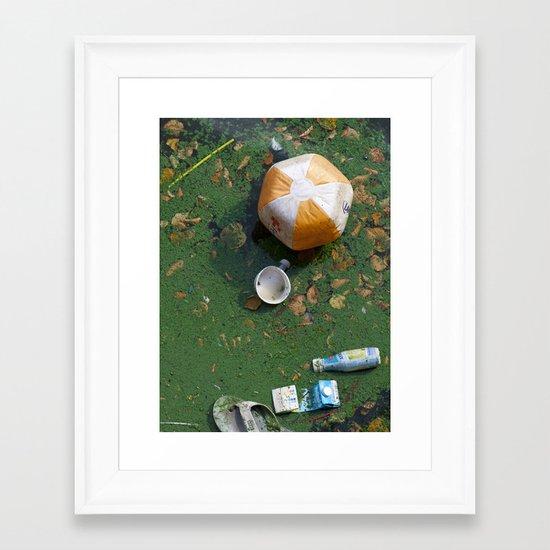 rubbish Framed Art Print