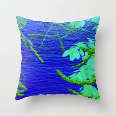 Blue Nature Throw Pillow