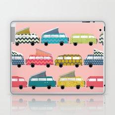 geo campers pink Laptop & iPad Skin