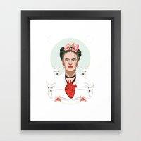 Frida Kahlo (Light) Framed Art Print