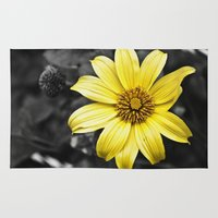 Color my Garden  Yellow Rug