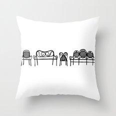 Tonet chairs Throw Pillow