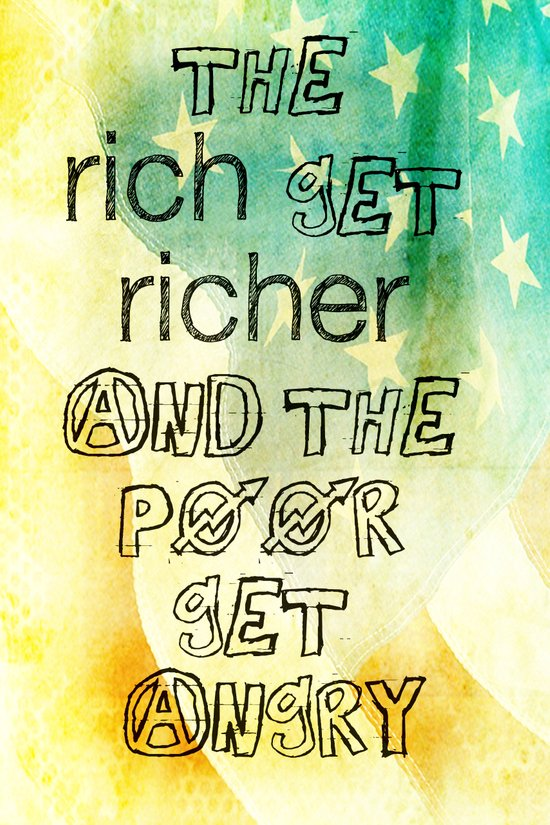 rich and poor _ US AND THEM Art Print