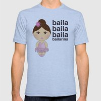 Baila bailarina Mens Fitted Tee Athletic Blue SMALL