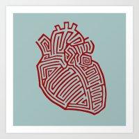 Heart Maze Art Print