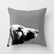 Italian bloodhound b/w Throw Pillow