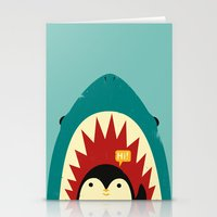 penguin Stationery Cards featuring Hi! by Jay Fleck