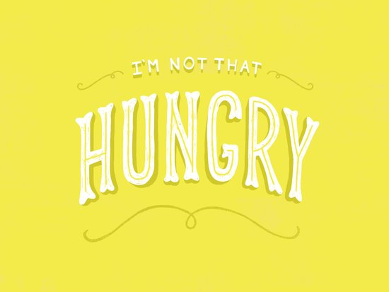 I'm Not That Hungry Canvas Print