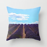 PROVENCE - Lavender | France | Travel | Summer | Purple | Nature | Landscape Throw Pillow