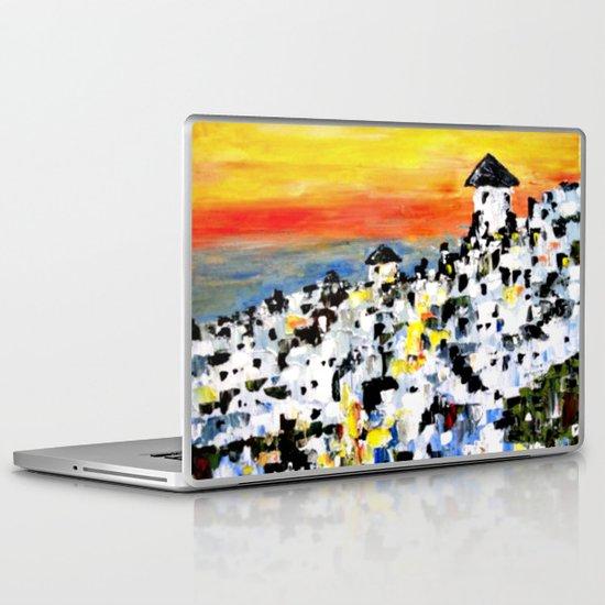 Abstract Santorini, Greece Landscape Laptop & iPad Skin