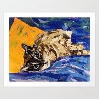 Cat Collage Art Print