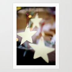 Christmas Stars Art Print