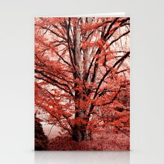 Tree in the Red Garden Stationery Cards
