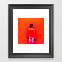Santos Orange Framed Art Print