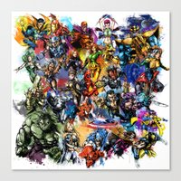 Marvel MashUP Canvas Print