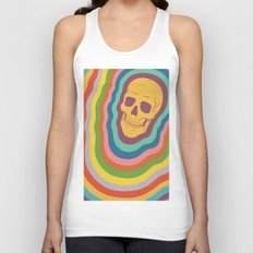 Trippy Rainbow Skull Unisex Tank Top