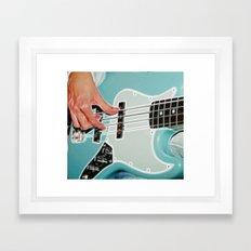 Mr Bassman Guitar fractals Framed Art Print