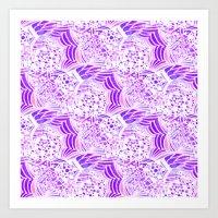 Purple Passion Plume Art Print