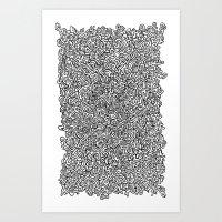 Haring-esque Doodle Art Print