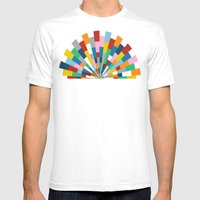 Tick Tock Brick Mens Fitted Tee White SMALL