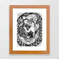 The Sailor And The Queen Framed Art Print