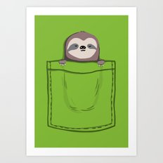 My Sleepy Pet Art Print