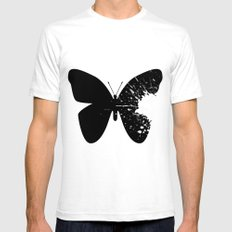 Butterfly Splatter 2 Mens Fitted Tee White SMALL