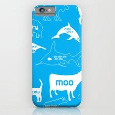 Animal Noises in Blue iPhone 6 Slim Case