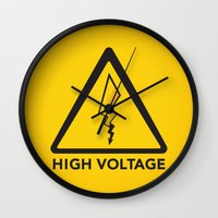 High Voltage Wall Clock