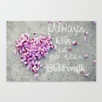 Kisses On The Sidewalk Canvas Print
