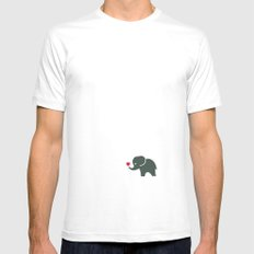 Elliefant White Mens Fitted Tee SMALL