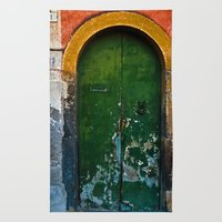 Magic Green Door in Sicily  Rug