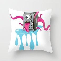 Monster Camera Throw Pillow