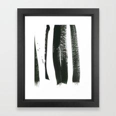 black on white 3 Framed Art Print