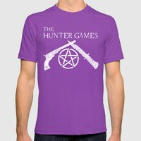 The Hunter Games Mens Fitted Tee Ultraviolet SMALL