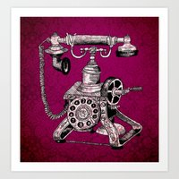 Phone it in.. Art Print