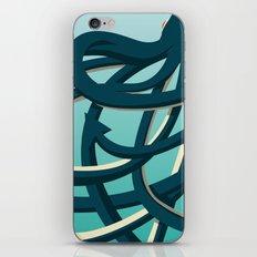Octopus blue iPhone & iPod Skin