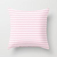 Pink Zigzag Design Throw Pillow