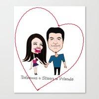 Rebecca Black And Simon … Canvas Print