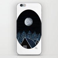 House At Night iPhone & iPod Skin
