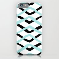 Pattern, turquoise and black iPhone 6 Slim Case