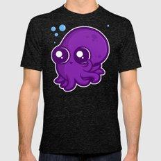 Super Cute Squid Mens Fitted Tee Tri-Black SMALL