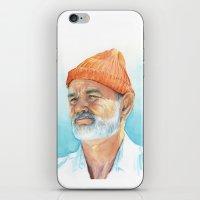 Bill Murray as Steve Zissou iPhone & iPod Skin