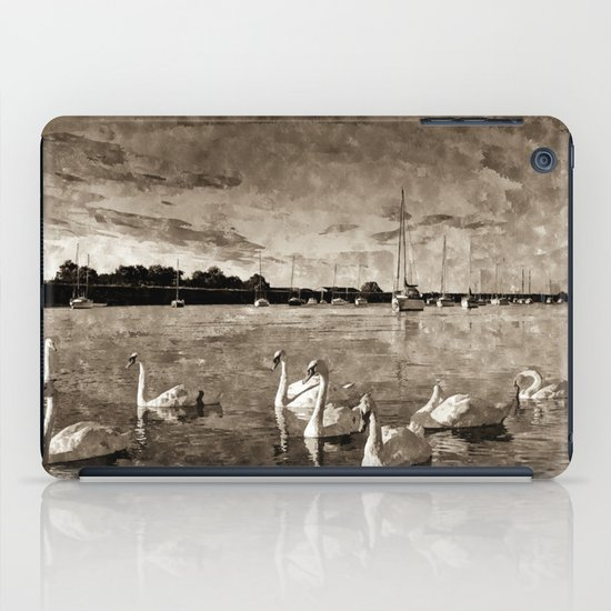 Serene Swans Watercolor  iPad Case