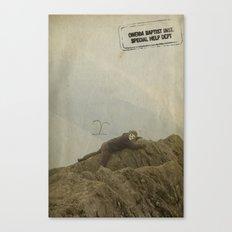 Yeti climb Canvas Print