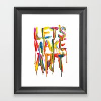 LET'S MAKE ART Framed Art Print